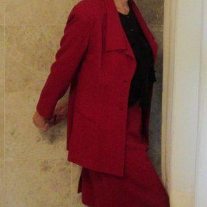 Tahari Red Suit